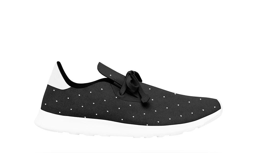 Veganer Sneaker | NATIVE SHOES AP Moc Embroidered Jiffy Black
