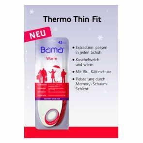 Vegane Einlegesohle | BAMA Einlegesohle Warm Thermo Thin Fit