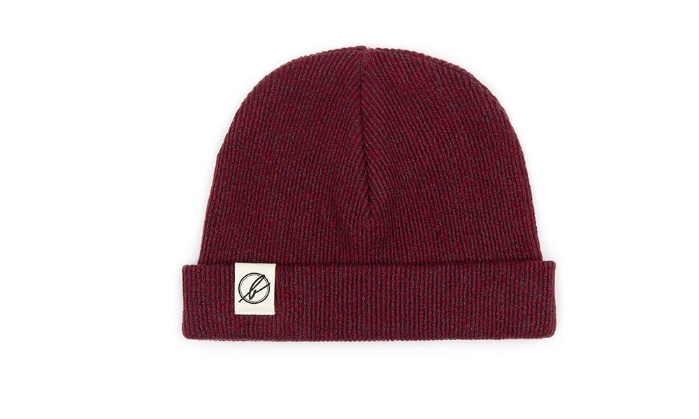 Vegane Mütze   BLEED Beanie Rot Melange