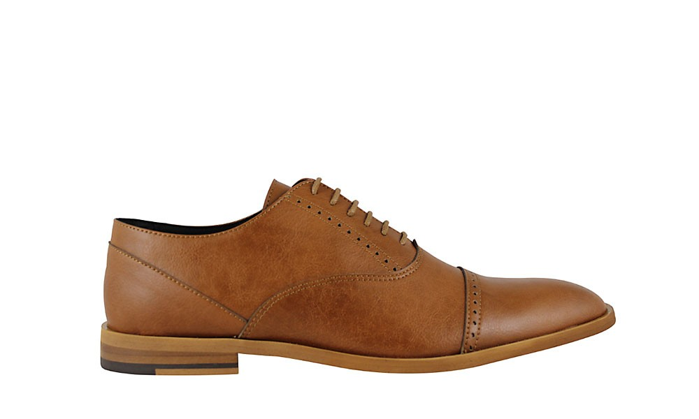 Veganer Schnürschuh | FAIR Classic Shoe Tan