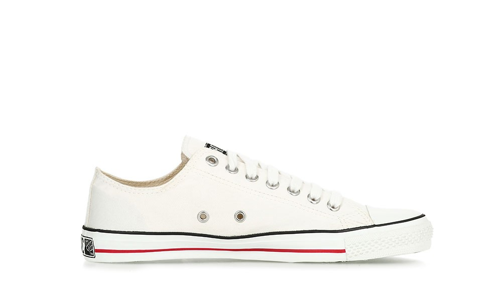 Veganer Sneaker   ETHLETIC Fair Trainer White Cap Lo Cut Just White