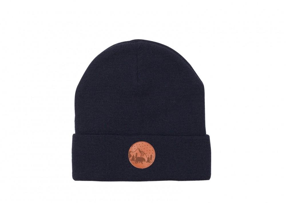 Vegane Mütze   KABAK Cotton Beanie Navy