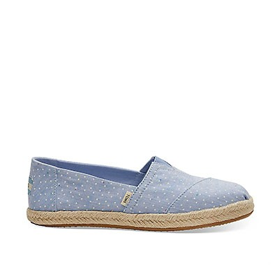 Vegane Espadrilles | TOMS Alpargata Rope Bliss Blue Tiny Dots