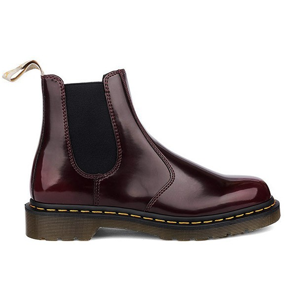 Veganer Chelsea Boot | DR. MARTENS 2976 Chelsea Boot Cherry Red Oxford Rub Off