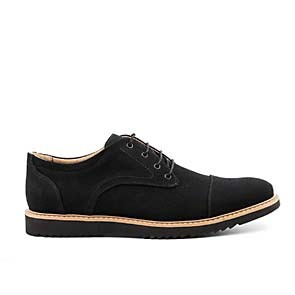 Veganer Derby | AHIMSA Victor Canvas Black
