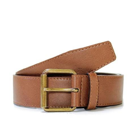 Veganer Gürtel   WILL'S VEGAN STORE 4cm Jeans Belt Chestnut
