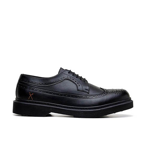 Veganer Schnürschuh | KING55 Brogue UK Black