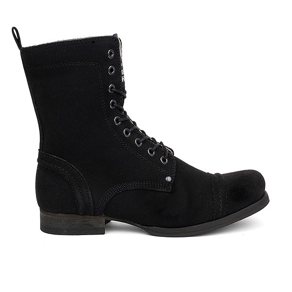 Veganer Schnürstiefel | VEGETARIAN SHOES Vintage Boot Black avesu Edition