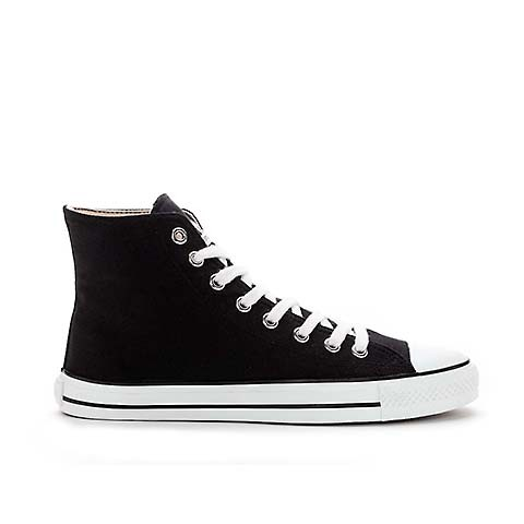 Fair Trainer White Cap Hi Cut Jet Black