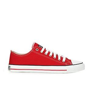 Veganer Sneaker | ETHLETIC Fair Trainer White Cap Lo Cut Cranberry Red