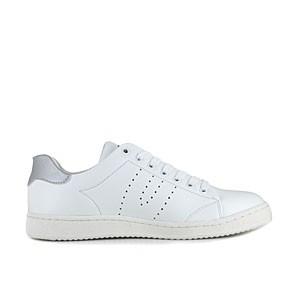Veganer Sneaker   VEGETARIAN SHOES Kemp Sneaker White/Silver