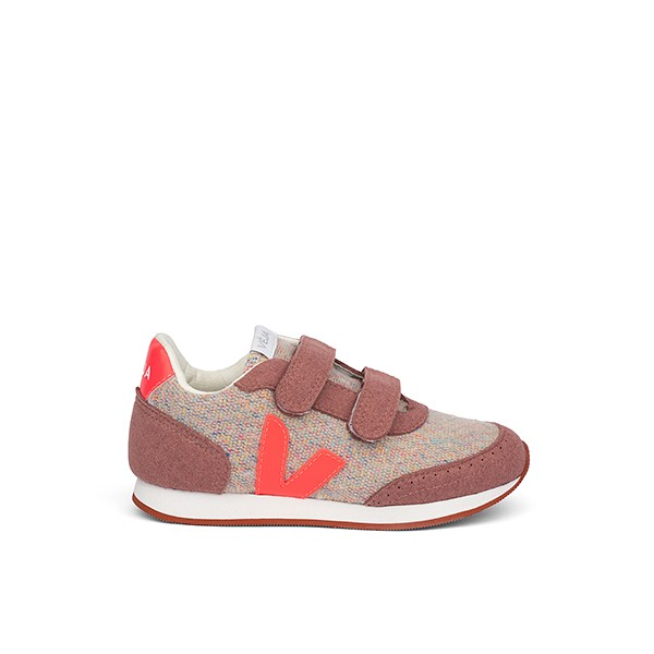 Veganer Sneaker | VEJA Small New Arcade Flannel Cloudy Rose-Fluo