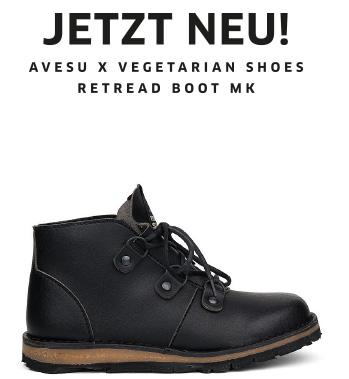 avesu x Vegetarian Shoes | Retread Boot MK2 | JETZT NEU!